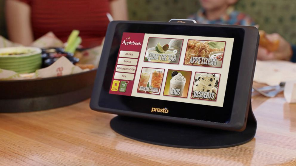Applebee's table top tablets